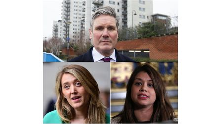 MP Keir Starmer (top), Camden leader Georgia Gould (bottom left) and MP Tulip Siddiq (bottom right).