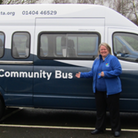 Devon District Councillor and joint creator of The Random Kitchen, Tony McCollum with TRIP Community Transport's Deputy...