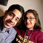 Faizan Sheikh with his mother