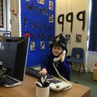 Reception pupils at Icknield Walk First School in Royston have converted their play area into a police station