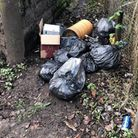 The rubbish was found at the foot tunnel near Jutsums Lane and Nursery Walk and was traced to a nearby house.