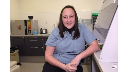 Samantha Mizzi, an ocularist at the Norfolk and Norwich Hospital. Picture: Danielle Booden