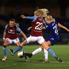 Chelsea's Pernille Harder scores her sides sixth goal during the FA Women's Continental Tyres League