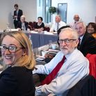 Rebecca Long-Bailey and Jeremy Corbyn attend a shadow cabinet meeting