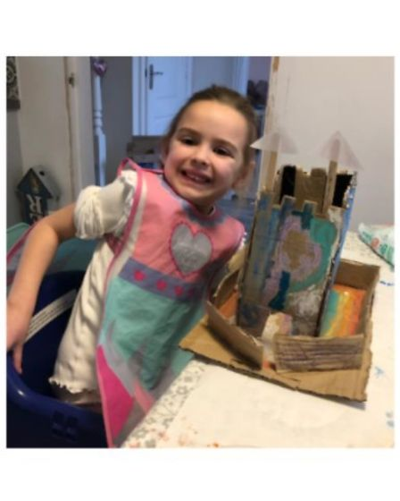 Carlton Colville Primary School Year 1 pupil, Millie, made a castle as part of her 'Prince and the Spider' story.