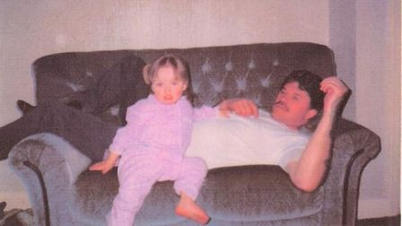 Terry with one of his six children, Leanne
