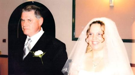 Terry with his daughter Kerry on her wedding day