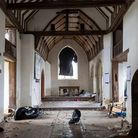 Inside the 500-year-old All Saints Church in East Horndon, Essex, which was ransacked on New Year's Eve by around 400 people attending an illegal rave.