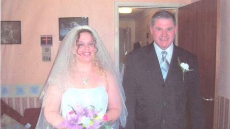 Kerry and her dad Terry on her wedding day