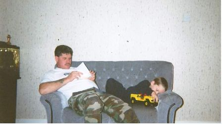 Terry with his son Mark