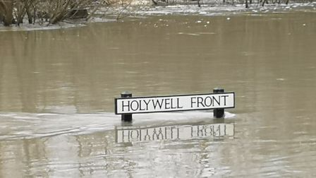 Parts of Holywell are still flooded