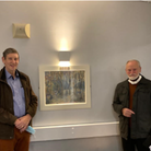 David Fife and John Pope by of Joan Hudson's painting