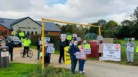 WisWin take their protestoutside of Wisbech to stage 'bubble rallies' where the company behind the incinerator...