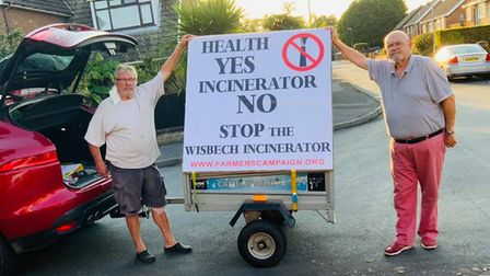 Campaigners continueto fight proposals for a mega incinerator to be built in Wisbech. Clive Coble and Mike Bucknor are...