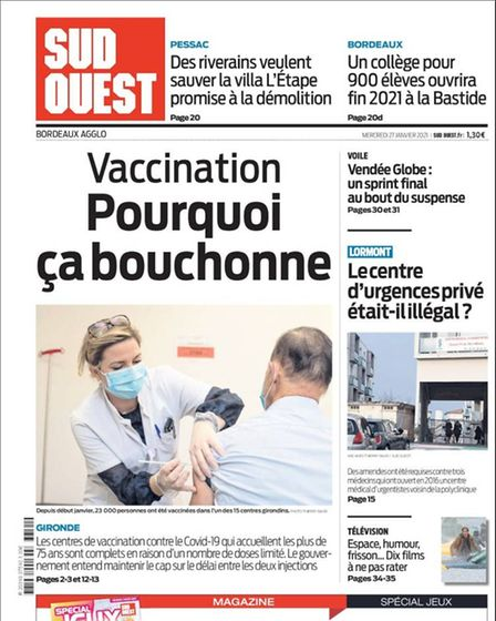 Sud Ouest's front cover