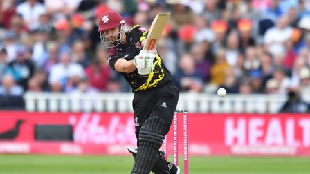 Somerset's James Hildreth bats during the Vitality T20 Blast