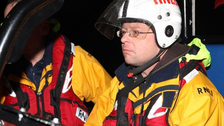 North Devon Gazette reporter Tony Gussin does his best not to crash an expensive lifeboat on the way