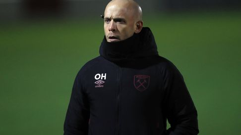 West Ham United head coach Olli Harder after the final whistle during the FA Continental Tyres Leagu