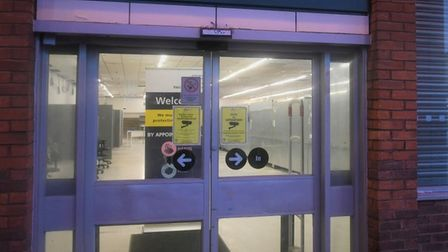 Doors opened of this former supermarket in Wisbech that is now a Covid-19 vaccination hub