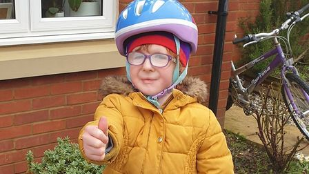 IslaHastings, from St Neots is cycling 46 miles to raise money for the hospital that helps her.
