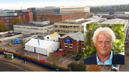 Elstree Studios site with managing director Roger Morris, inset.