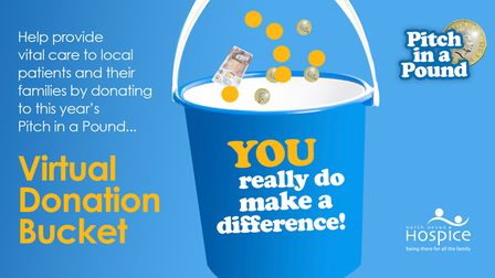 Can you support the North Devon Hospice Pitch in Pound virtual bucket appeal online this February?