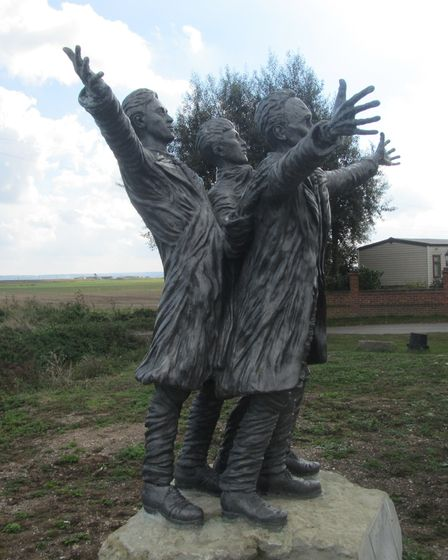 A statue in tribute to the Short brothers in Leysdown on the Isle of Sheppey. Picture: Barrie Walker