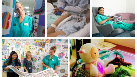 A collage showing some of the ways the Royal Free Charity has helped staff.