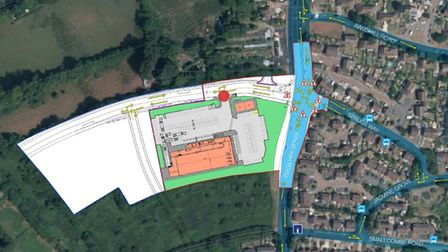 Revised plans for a proposed Lidl store at Kings Ash Road, Paignton