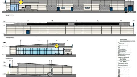 Plans for a proposed Lidl store at Kings Ash Road, Paignton