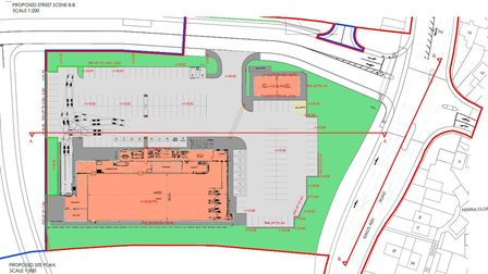 Revised plans for a proposed Lidl store development off Kings Ash Road, Paignton