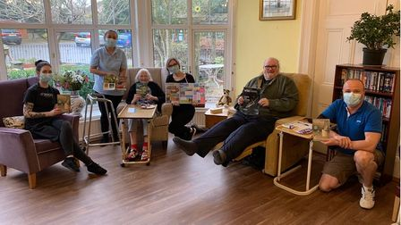 Residents and staff at The Warren Nursing Home in Northam enjoy a fundraising activity for Devon Wildlife Trust - part of...