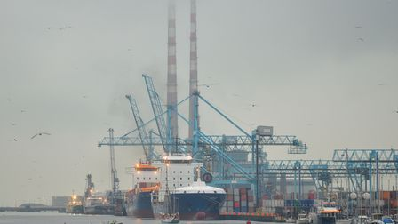 A container terminal at Dublin port. Ireland has seen trade with Europe increase.