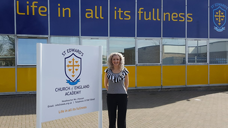 Jodie Hassan, head of St Edward's Academy, Romford