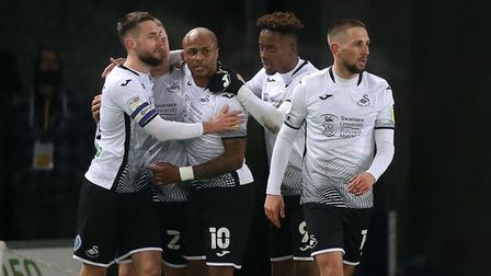 Andre Ayew was on the mark in Swansea City's 2-0 Championship win over Norwich City