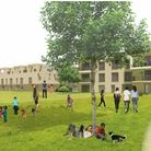 How the development of Felixstowe's Deben High site could look from the cricket field at the rear