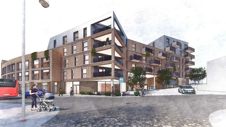 An artist's impression of the redeveloped Crossways site in Paignton