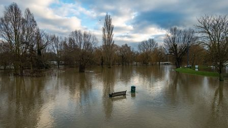 Peter Hagger, from St Neots, took this image of a flooded Riverside Park.