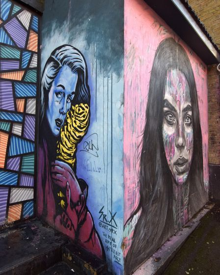Street art to the rear of the former Camden Market off Kentish Town Road