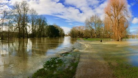 This photograph of flooding in Godmanchester was sent in by Jacqueline Sheriff.