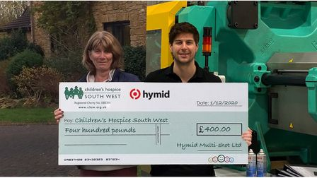 Virtual cheque presentation to charity