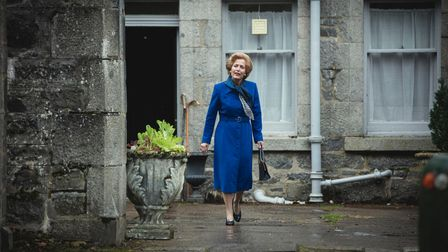 Picture shows: Margaret Thatcher (GILLIAN ANDERSON). Filming Location: Ardverikie Estate, Kinloch La