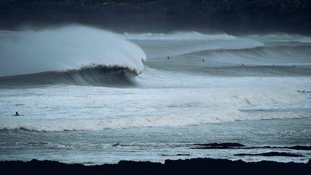 Huge swell brought massive waves to the North Devon coast