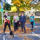 Supporters taking part in Nailsea Charity Walks and Runs.