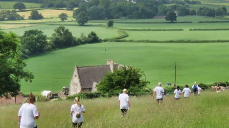 Walkers taking part in Nailsea Charity Walks and Runs