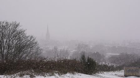 A snowy view of Norwich from Mousehold Heath. Picture: Danielle Booden