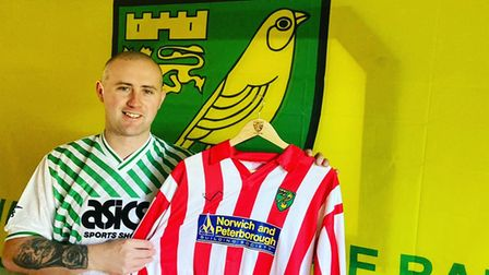 Billy Pointer, has now collected 611 Norwich City shirts froma cross the decade.