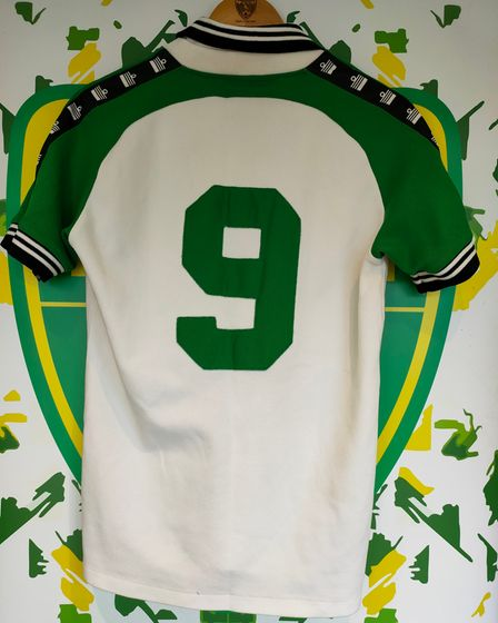 TheAdmiral strip worn by Justin Fashanu away at Wolves in 1979.