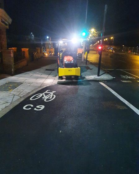 Cycle gritter