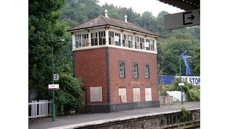 Picture of old train station signal box